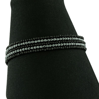 Lisa Bridge Hematite & Spinel Bracelet