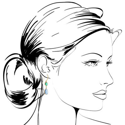 Lisa Bridge Agate & Chalcedony Dangle Earrings 14K