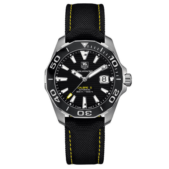 TAG Heuer Aquaracer Calibre 5 Yellow Detailed Watch