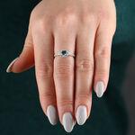 Aquamarine & Sapphire Ring 14K
