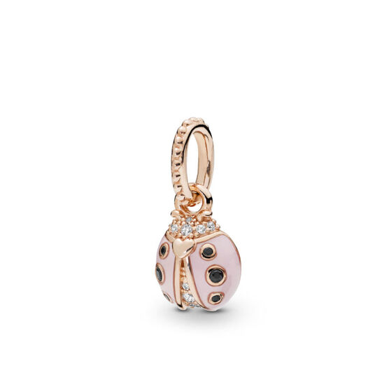 Pandora Rose™ Lucky Pink Ladybird Enamel, Crystal & CZ Pendant
