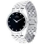 Movado Faceto Black Dial Diamond Watch, 38mm