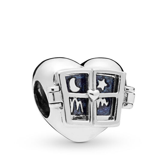 Pandora Window Heart Enamel Charm