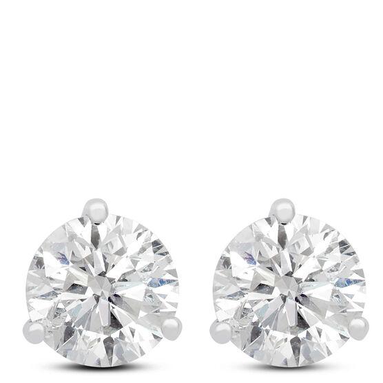 Diamond Solitaire Earrings 14K, 2 ct.