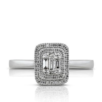 Diamond Double Halo Ring 14K