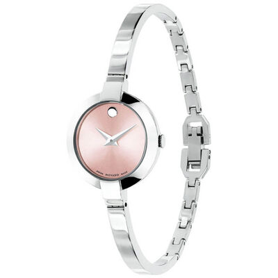 Movado Bella Pink Dial Bangle Watch, 25mm