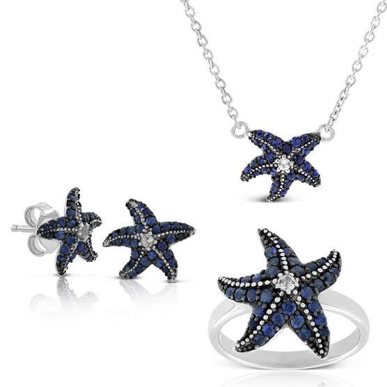 Lisa Bridge Sapphire & White Topaz Starfish Gift Bundle