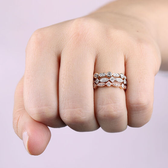 cubic wedding stack zirconia eternity il silver plated rose cz matching ring rings gxaz gold sterling full fullxfull thin band