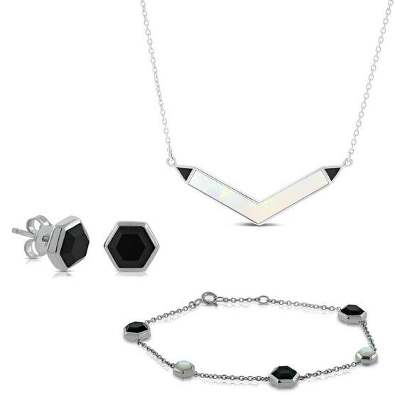 Lisa Bridge Mother of Pearl & Onyx Gift Bundle