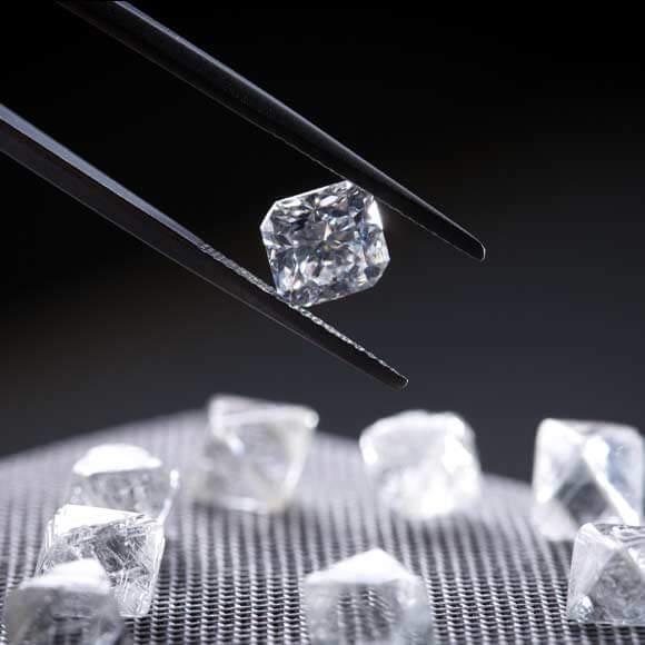 Polished and Rough Ikuma Diamonds