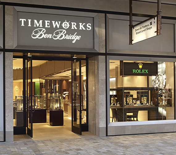 Timeworks by Ben Bridge storefront featuring Rolex