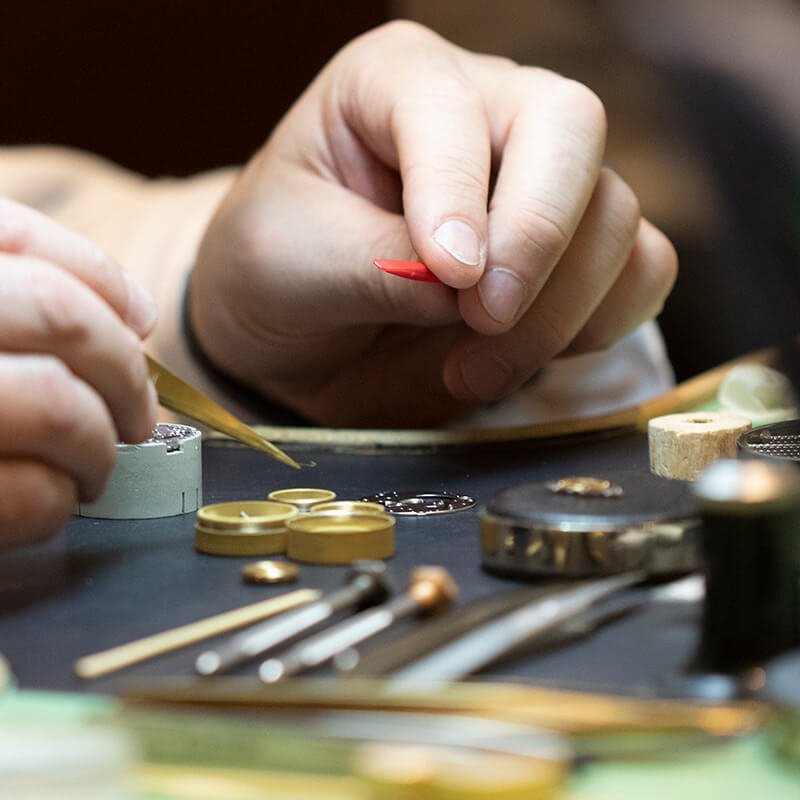 Watchmaker using tools