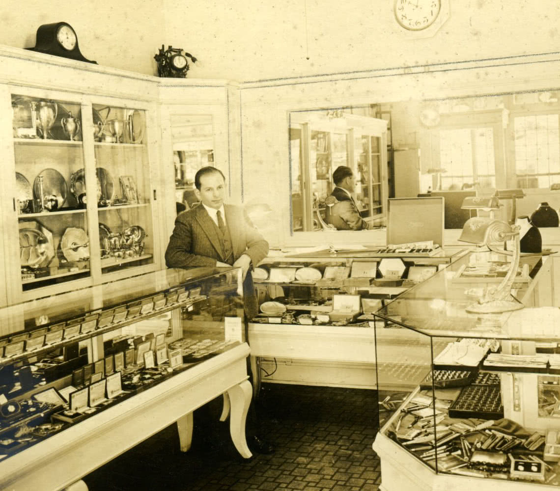 Sam Silverman in Seattle store circa 1912