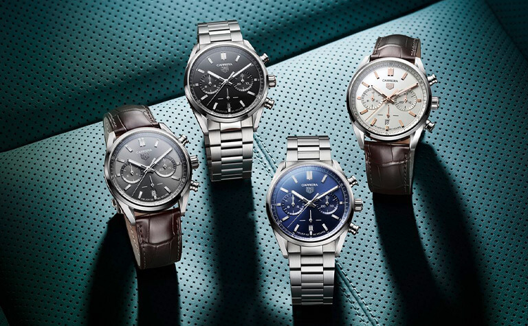 TAG Heuer Carrera Heuer 02 Automatic Chronograph Watches | 12028510, 12028502, 12028528, 12028544