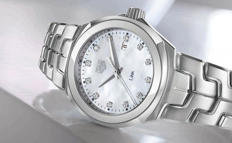 TAG Heuer Link Quartz Ladies Mother of Pearl Steel Watch | 11556552