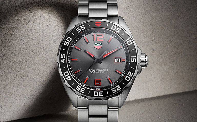 TAG Heuer Formula 1 Quartz Mens Grey Steel Watch | 11983392