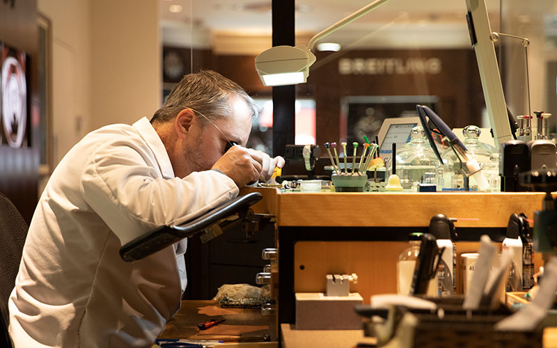 Watchmaker at Downtown Seattle Store