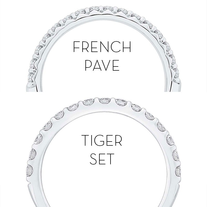 Setting Styles: French Pave, Tiger Set