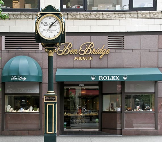 Ben Bridge Rolex storefront with clock
