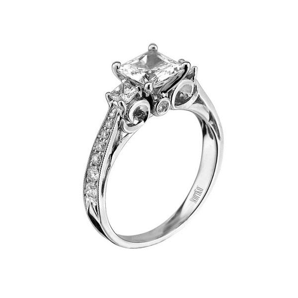 Scott Kay Noblesse Diamond Semi Mount Ring 14K ...