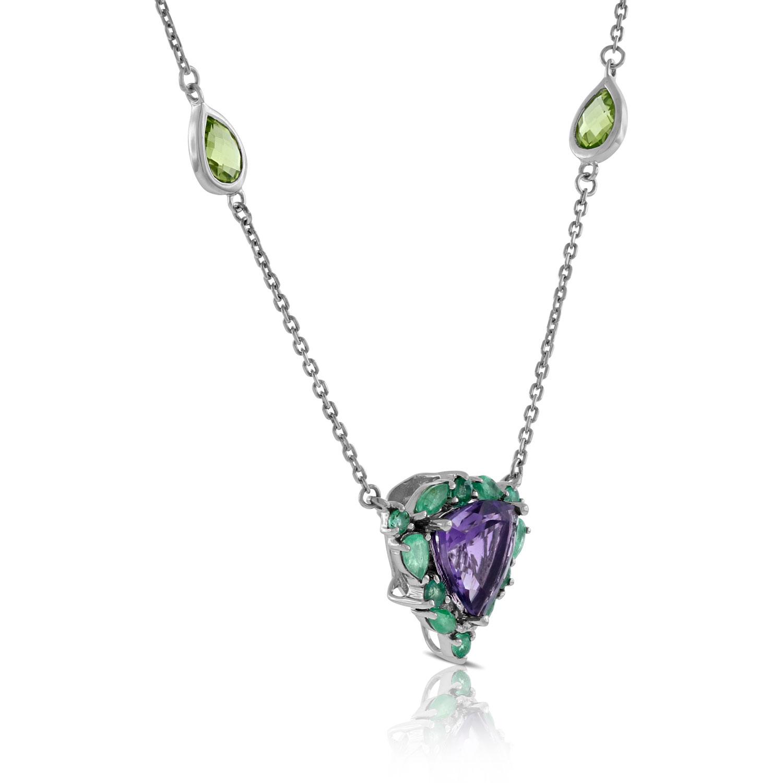 Lisa Bridge Amethyst Emerald Amp Peridot Necklace Ben
