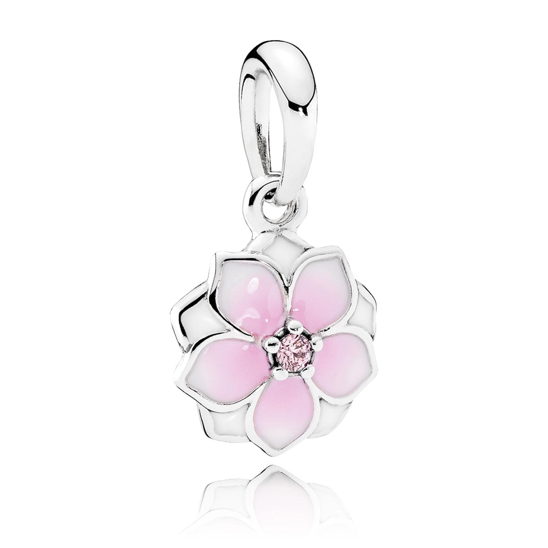 c7ba6a7c5 PANDORA Magnolia Bloom Enamel & CZ Dangle Charm - 792086PCZ | Ben ...