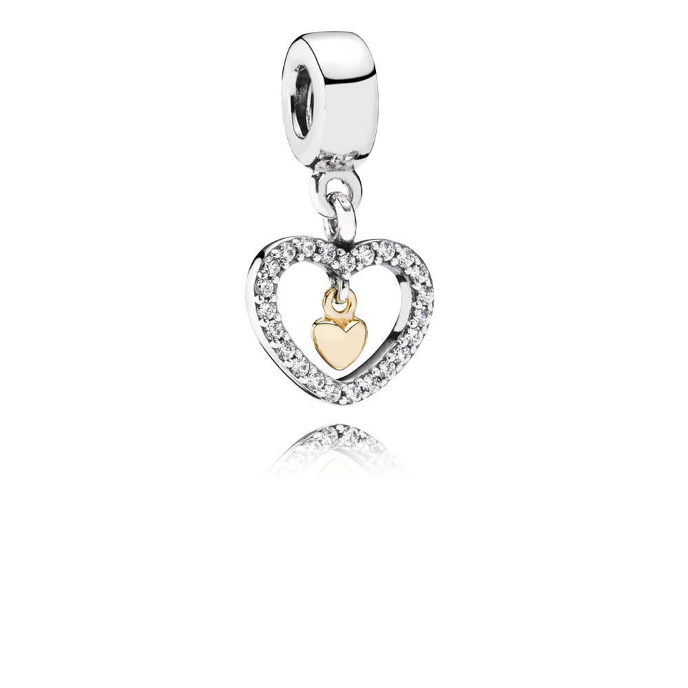 28f1d8831 PANDORA Forever In My Heart Charm, Sterling & 14K - 791421CZ | Ben ...