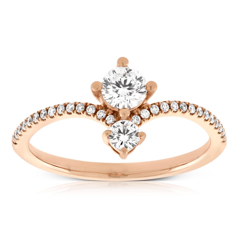 d94ea8c4d9c67 Rose Gold Signature Forevermark Diamond Ring 18K