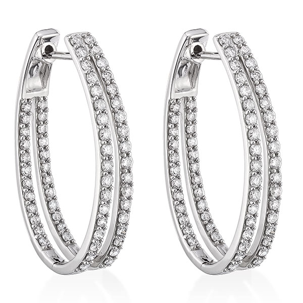 Double Hoop Diamond Earrings 14k Ben Bridge Jeweler