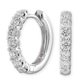 Half Carat Diamond Hoop Earrings 14k Ben Bridge Jeweler