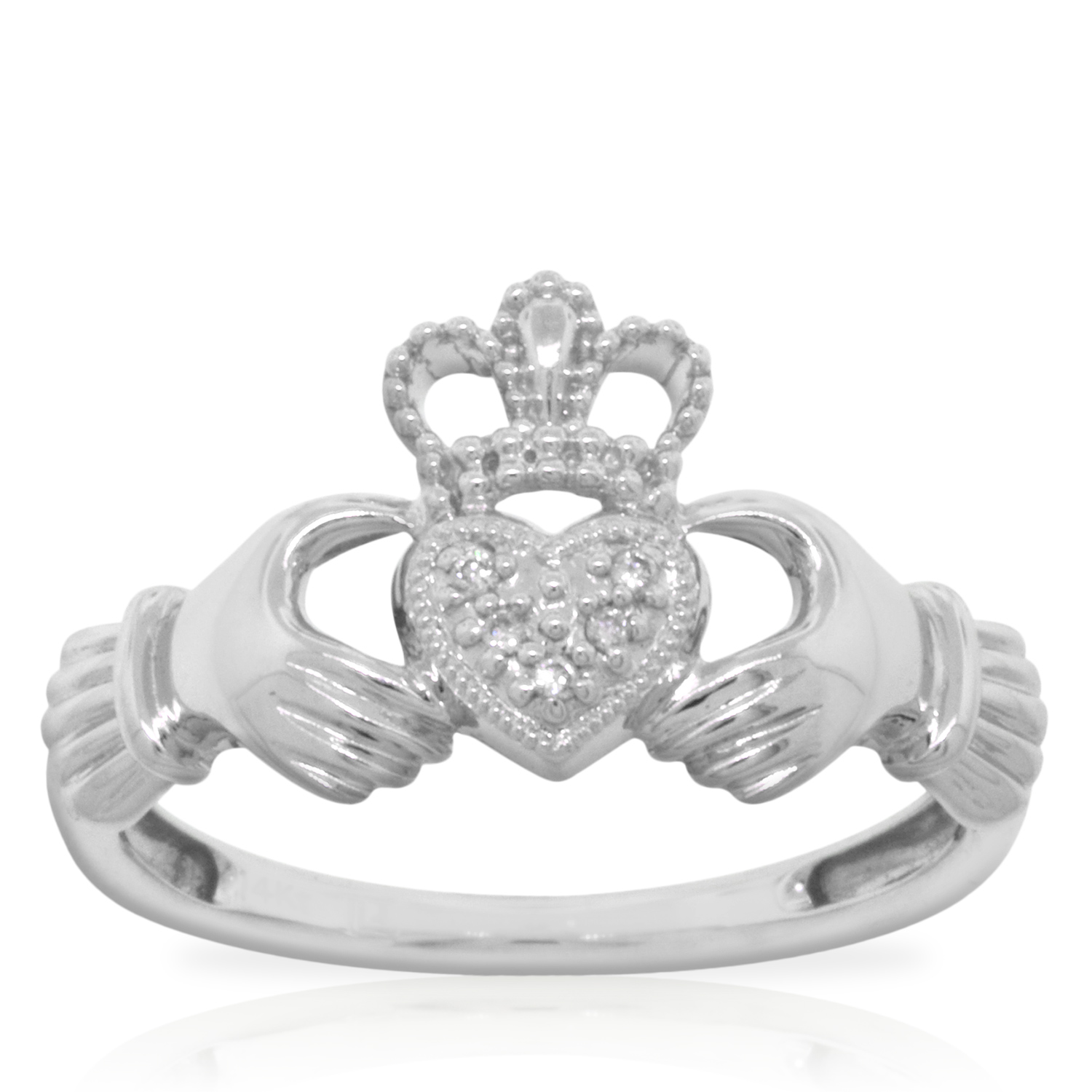 claddagh diamond ring 14k ben bridge jeweler. Black Bedroom Furniture Sets. Home Design Ideas