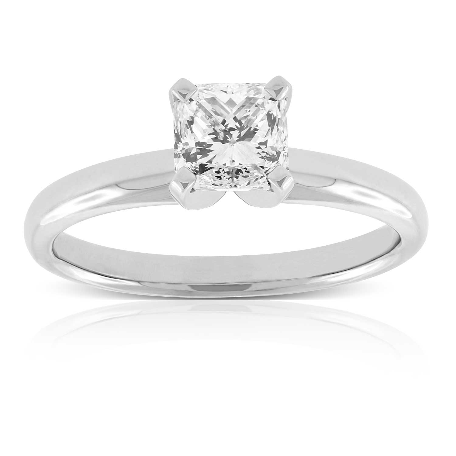 cut ring white rings halo diamond princess gold double