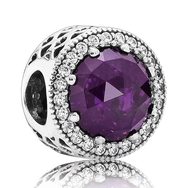 Pandora Purple Radiant Hearts Charm 791725nrp Ben