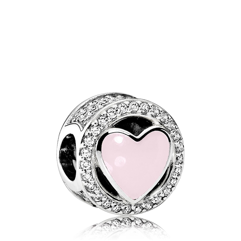 Pandora Wonderful Love Enamel Amp Cz Charm 792034cz Ben