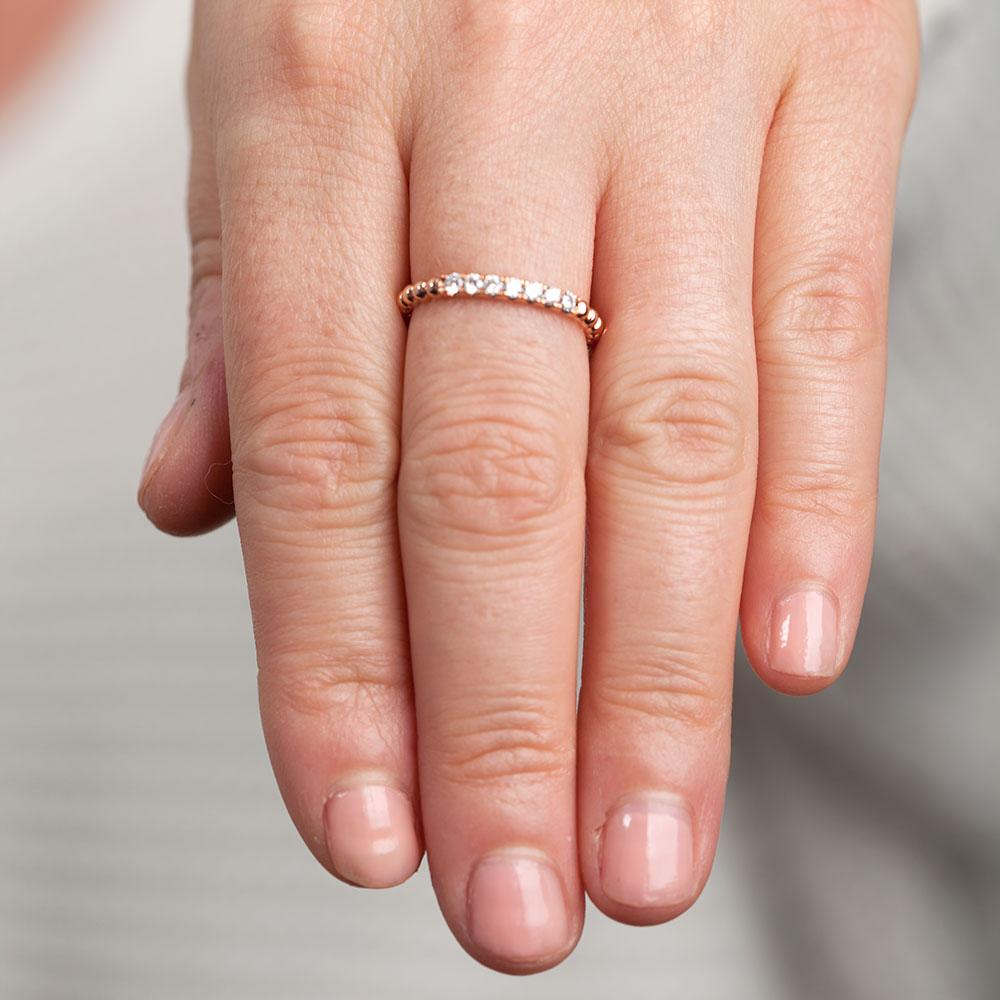 Rose Gold Stackable Diamond Band 14K Ben Bridge Jeweler