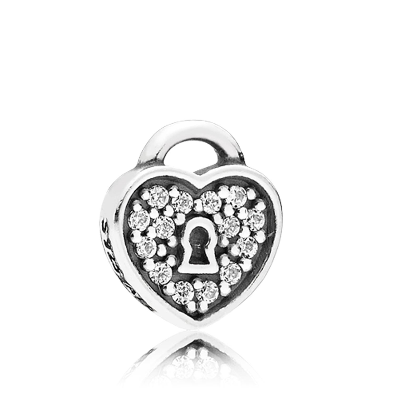 698c767c2 PANDORA Petite Locket CZ Heart Padlock Charm - 792162CZ | Ben Bridge ...