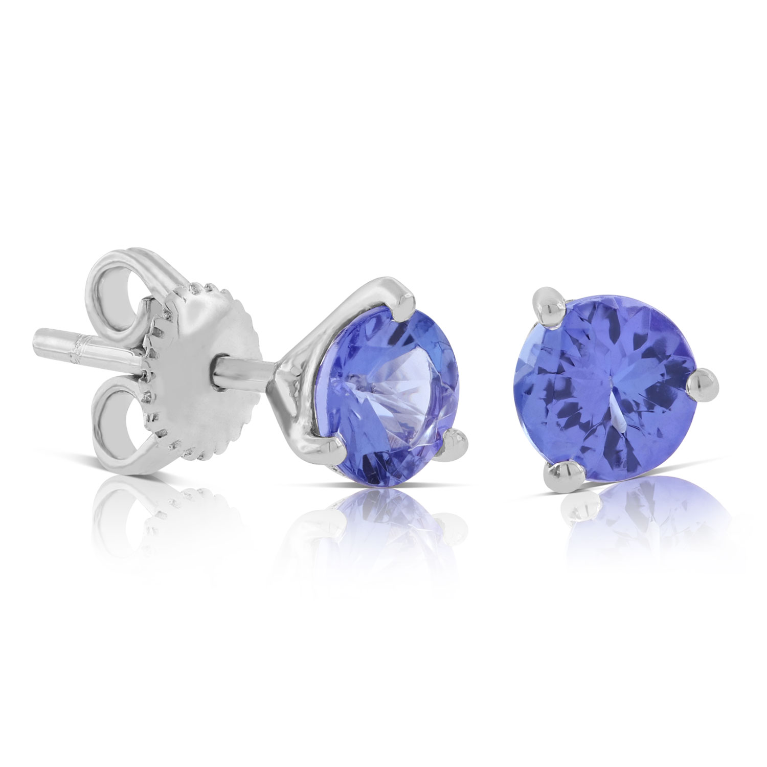Tanzanite Stud Earrings 14k