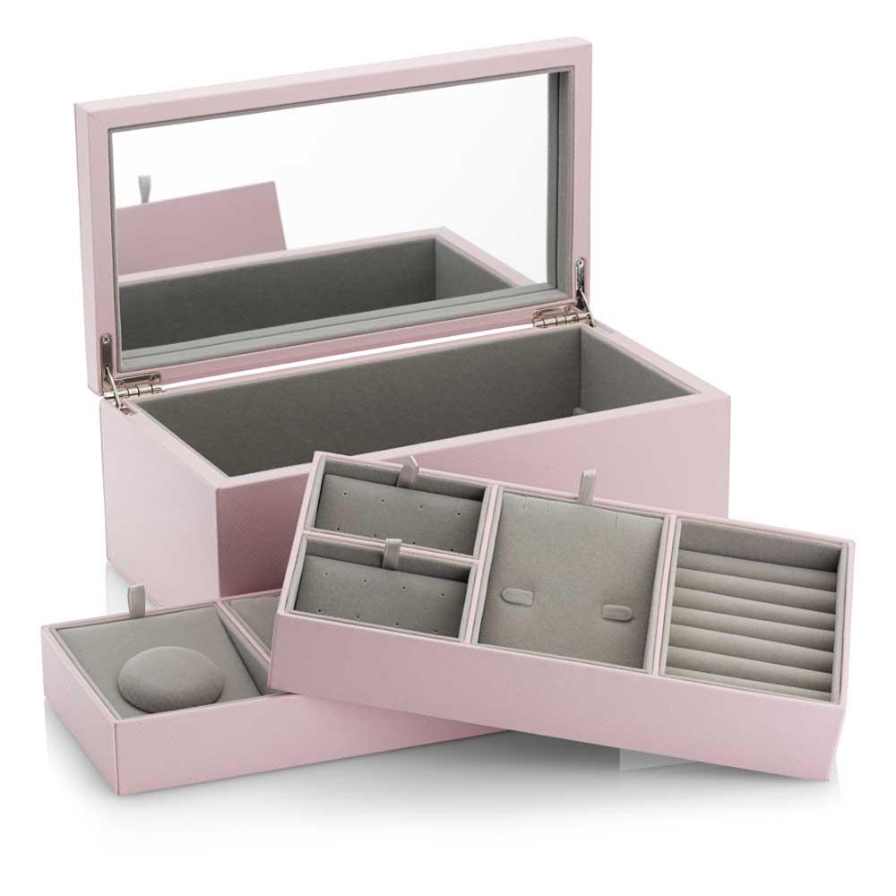 Pandora Medium Pink Pu Leather Jewelry Box A005 Ben Bridge Jeweler