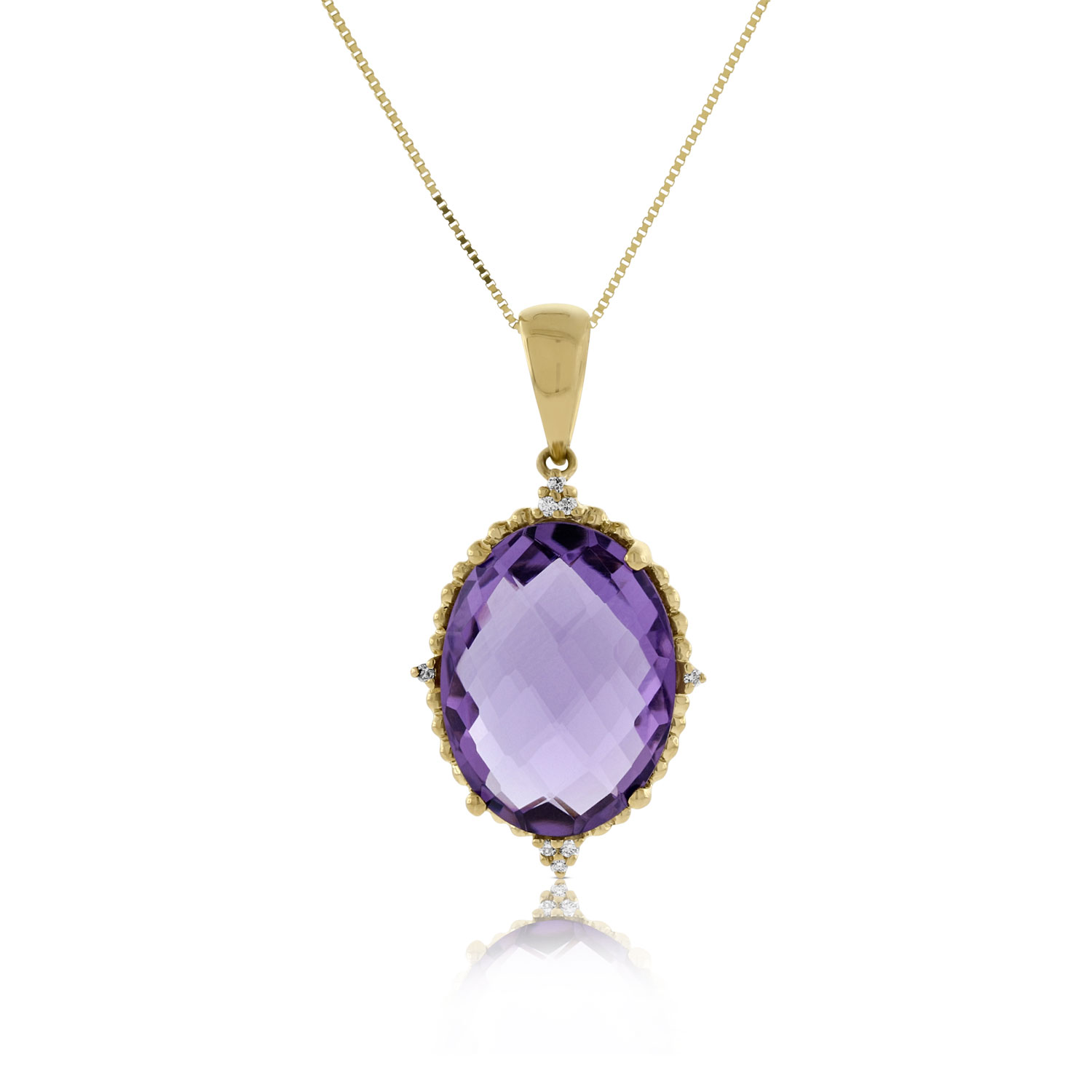 diamond purple single february shaped necklace name products pendant and birthstone amethyst