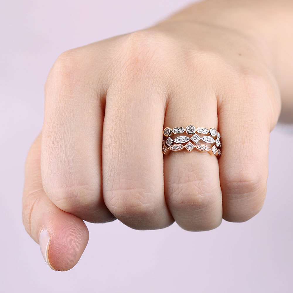 Round & Princess Cut Diamond Band 14K | Ben Bridge Jeweler