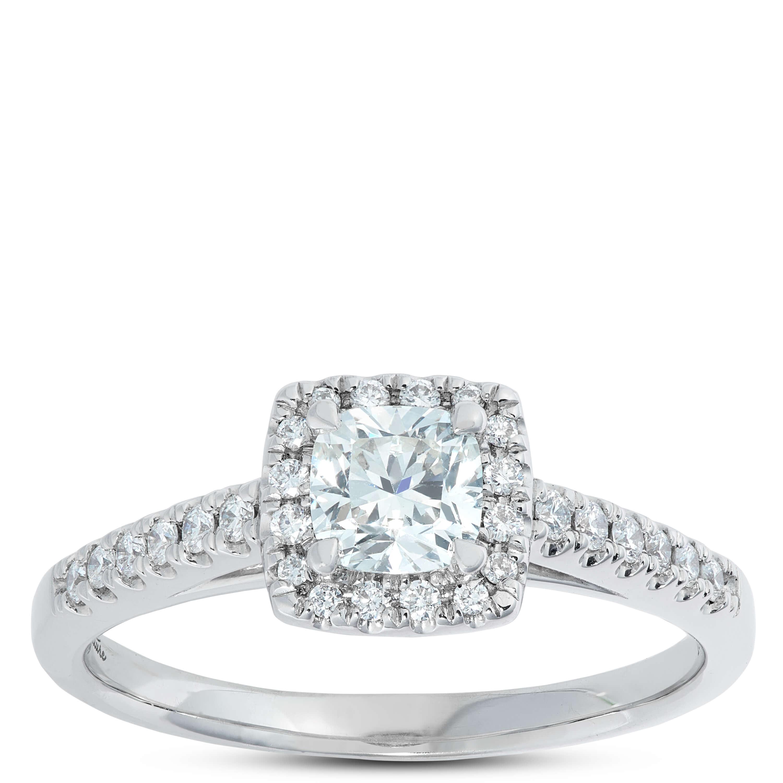 b55bb3761e41e Signature Forevermark Cushion Cut Diamond Ring 18K