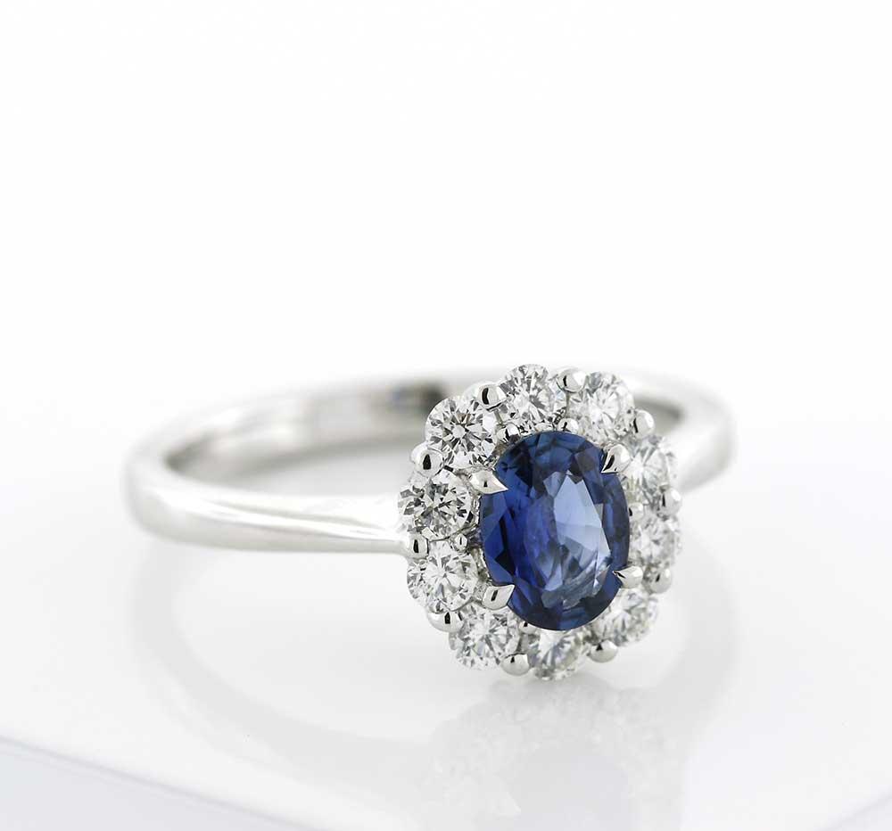 Sapphire Diamond Ring Price