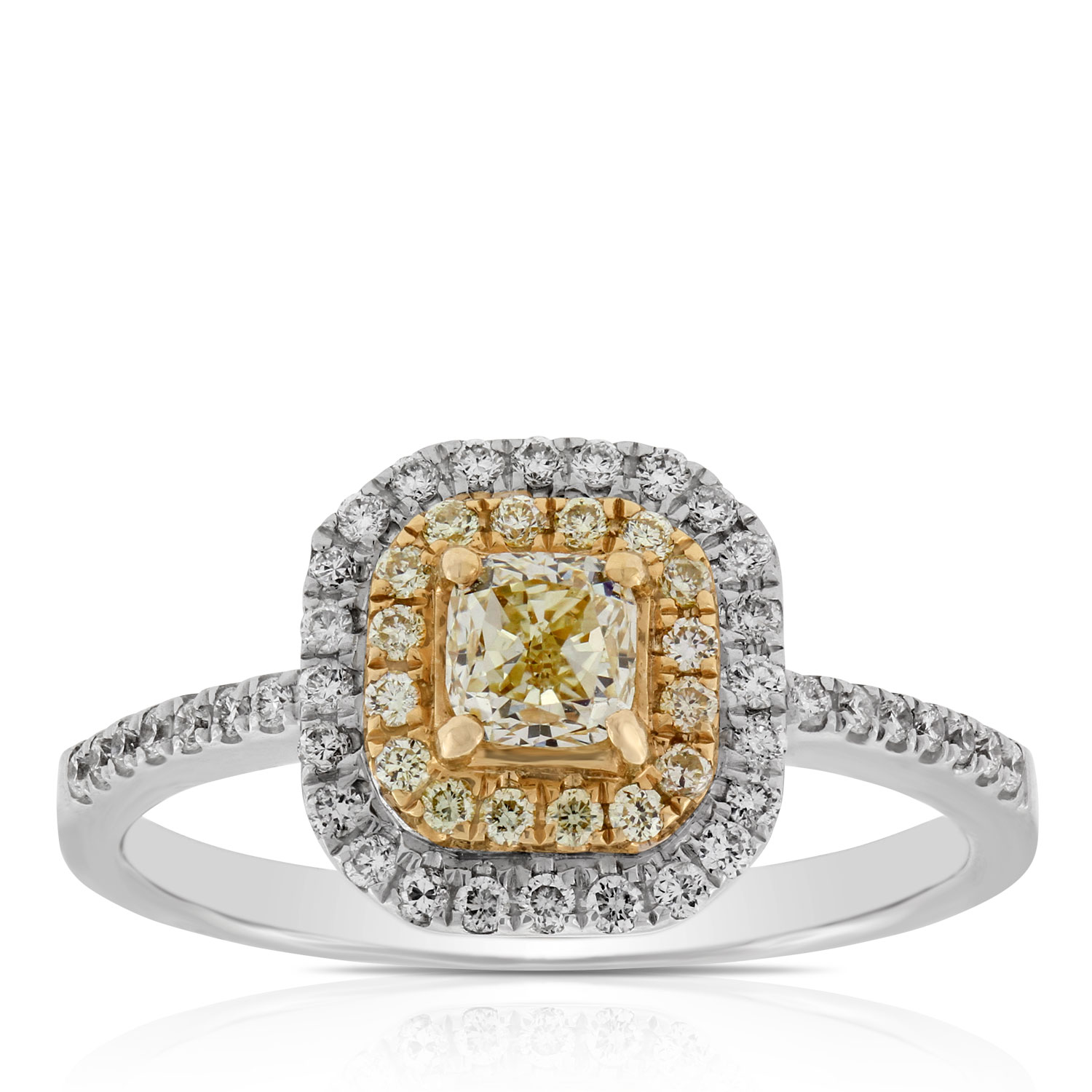 cathedral engagement bridge a open cushion diamond rings ring halo