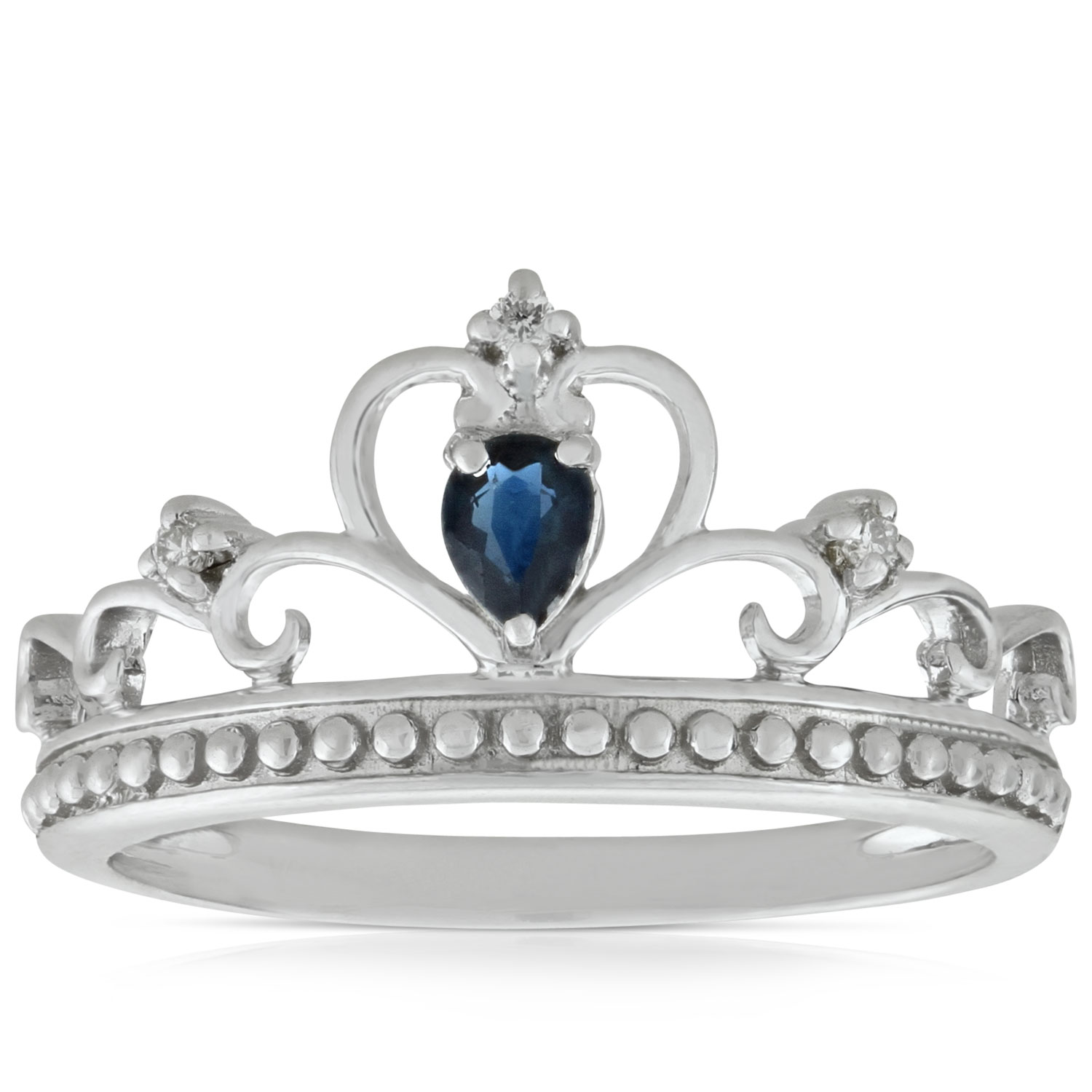 Sapphire & Diamond Crown Ring 14K | Ben Bridge Jeweler