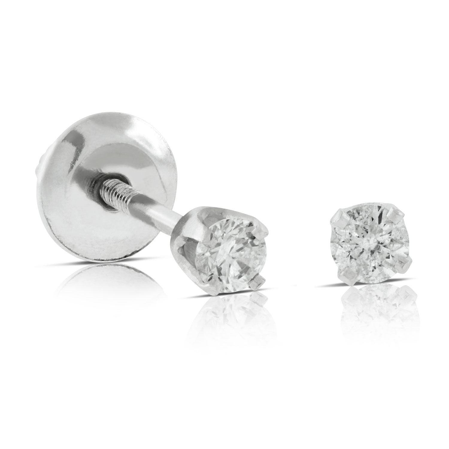 Images Baby Diamond Earrings 14k