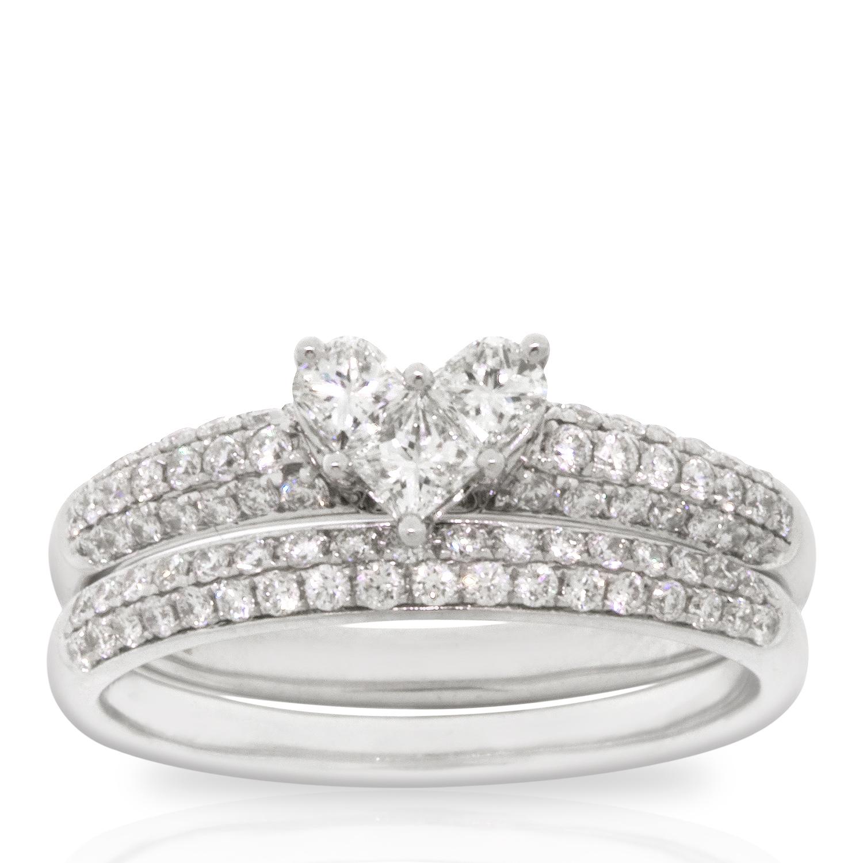 8a62e0110b96d Heart Diamond Wedding Set 14K