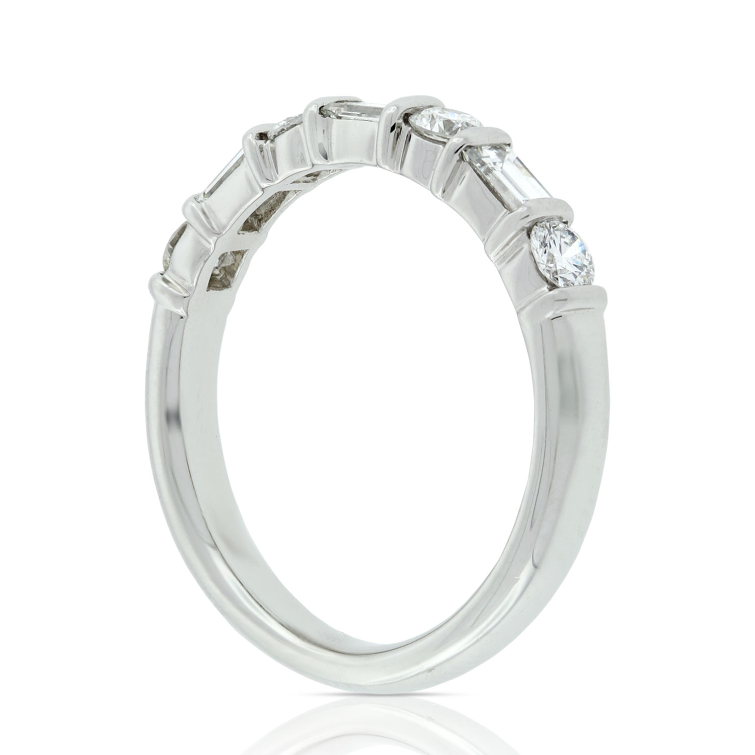 Baguette Amp Round Diamond Ring 34 Carat In Platinum Ben