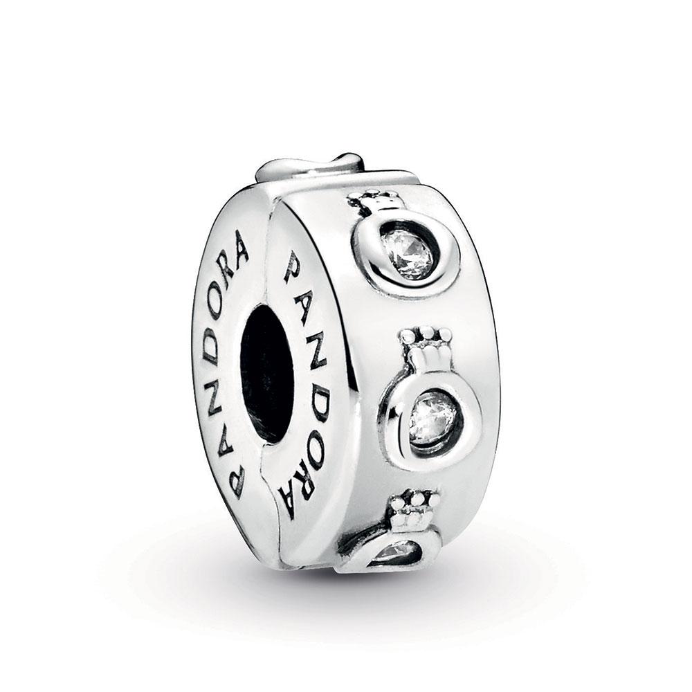 Pandora Sparkling Pandora Crown O CZ Clip Charm