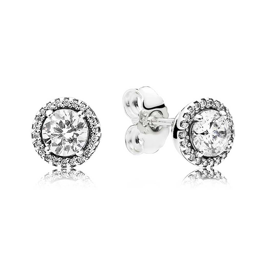 Pandora Earrings Price: PANDORA Classic Elegance CZ Earrings - 296272CZ