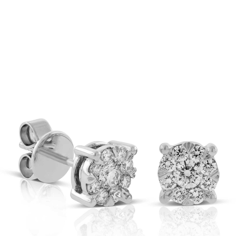 Cluster Diamond Earrings 14k 1 2 Ctw Ben Bridge Jeweler